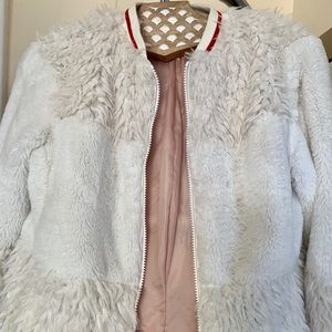 Treasure & Bond furry lightweight spring jacket